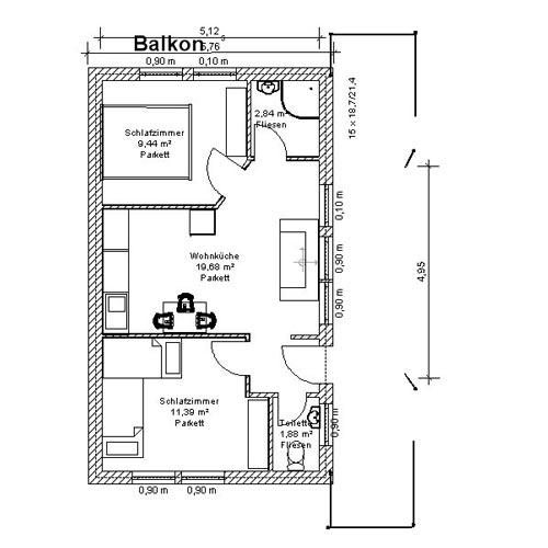 MITANANDA Gästehaus - Plan